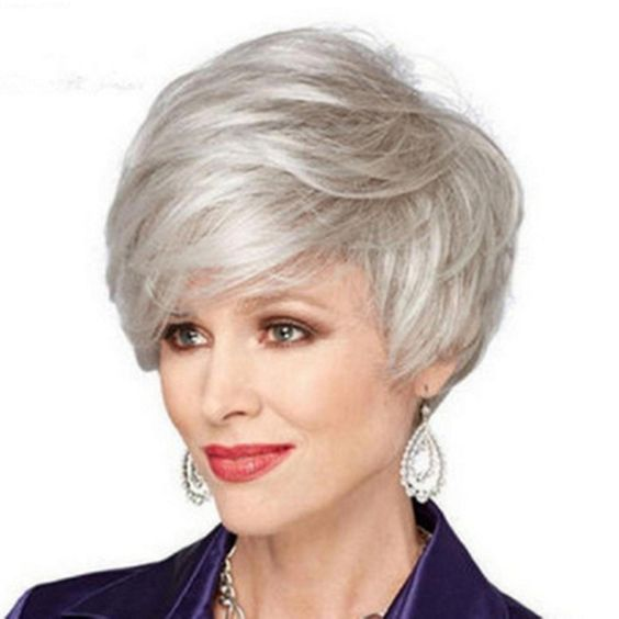 30 Inspiring Pixie Haircuts for Women Over 60 Years Old (Updated 2021) Pixie-cuts-with-long-bangs