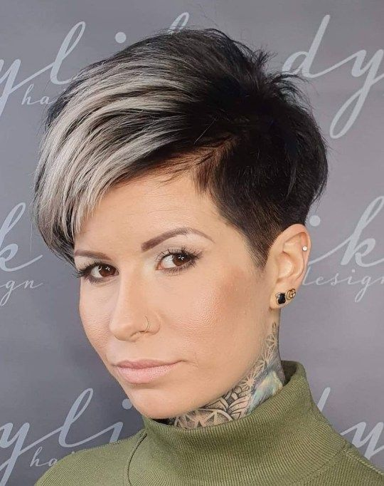30 Inspiring Pixie Haircuts for Women Over 60 Years Old (Updated 2021) Pixie-cuts-with-shaved-sides