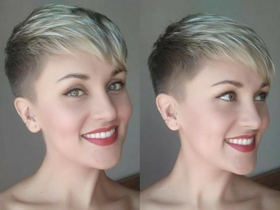 30 Inspiring Pixie Haircuts for Women Over 60 Years Old (Updated 2021) Pixie-undercut-with-bangs