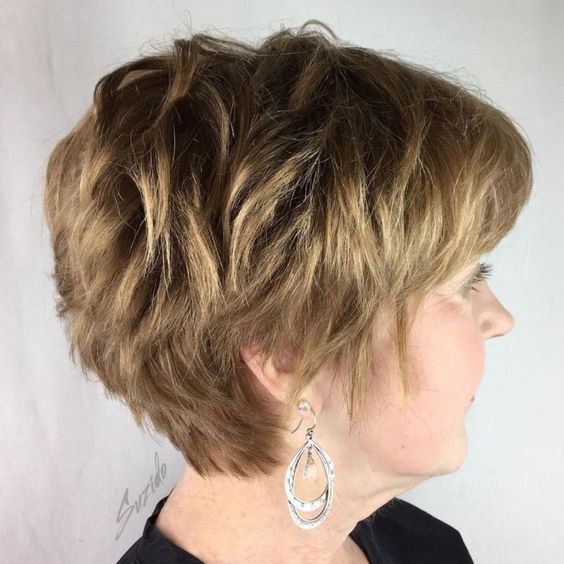 30 Inspiring Pixie Haircuts for Women Over 60 Years Old (Updated 2021) Shaggy-pixie-cut