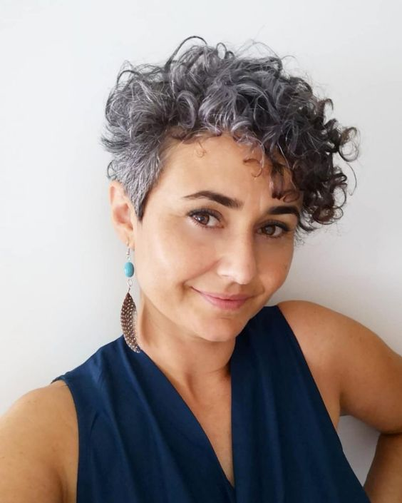 30 Inspiring Pixie Haircuts for Women Over 60 Years Old (Updated 2021) Short-curly-pixie-cut