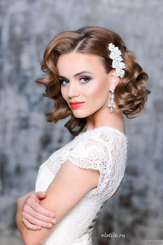 short up do hairstyle for wedding 3