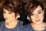 Short Wavy Brown Pixie Haircut