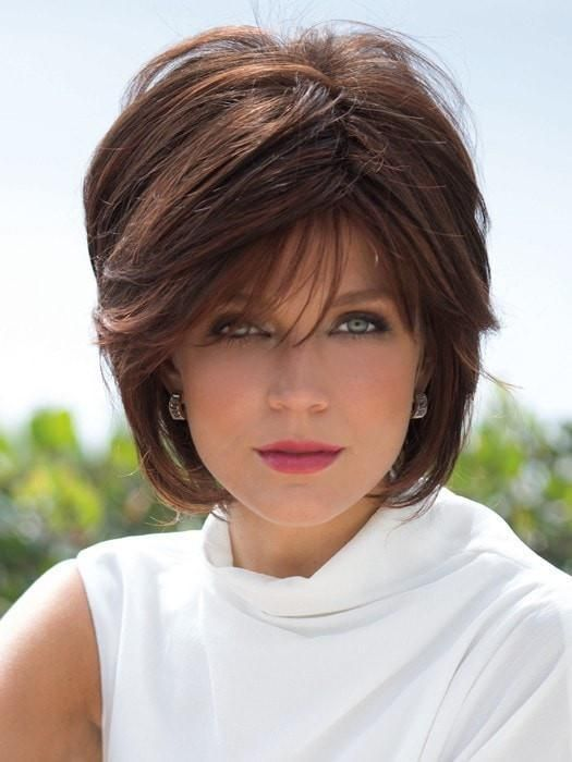 Layered Fine Hairstyle for Over 50 Women 4