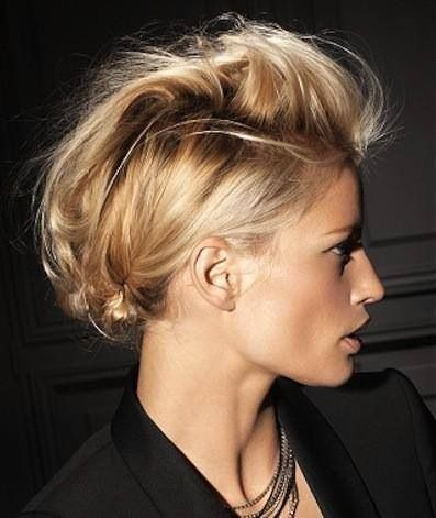 Alternative Braided Mohawk easy updos for short hair to do yourself 4
