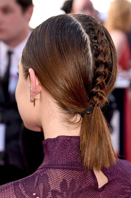 Alternative Braided Mohawk easy updos for short hair to do yourself 5