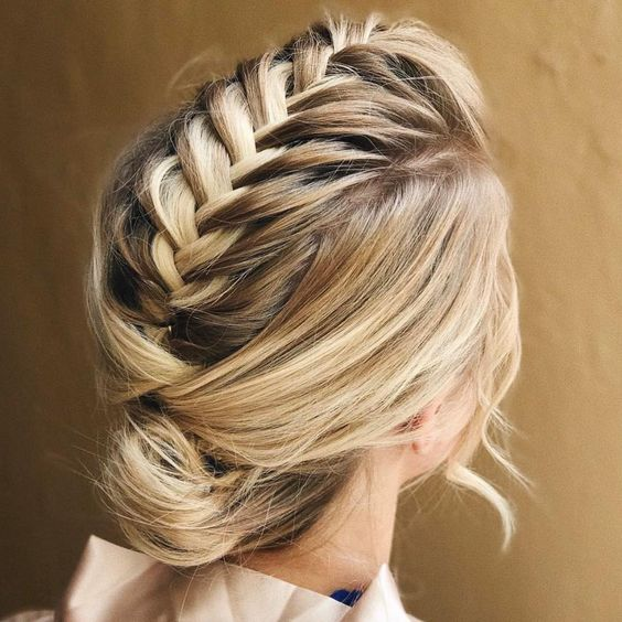 Alternative Braided Mohawk easy updos for short hair to do yourself 6