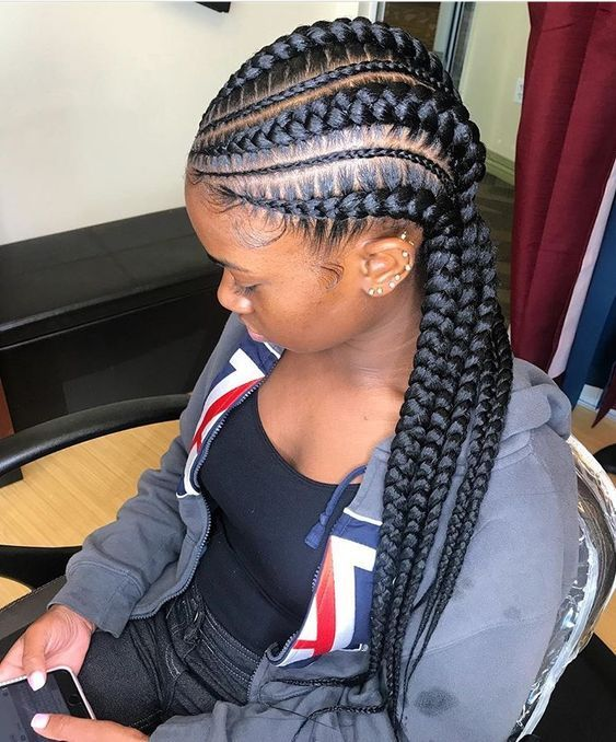 Banana and Big Braids Most Inspiring Braids Hairstyle for Women 2