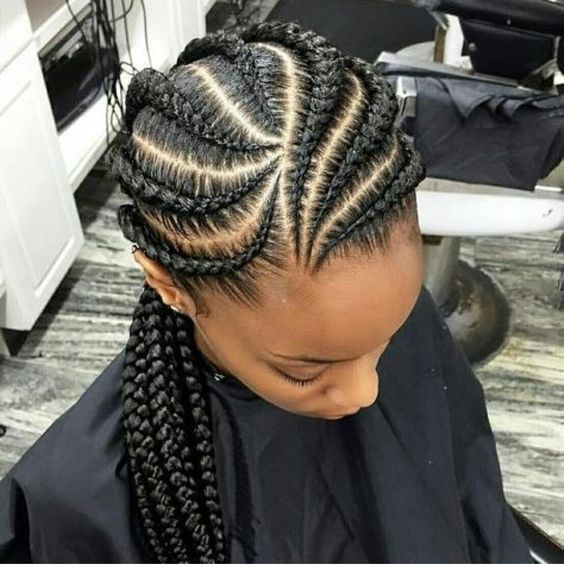 Banana and Big Braids Most Inspiring Braids Hairstyle for Women 4