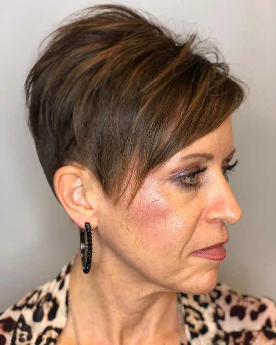 Blue Steel Disconnected Pixie for Seniors with Thin Hair That Give Youthful Look 2