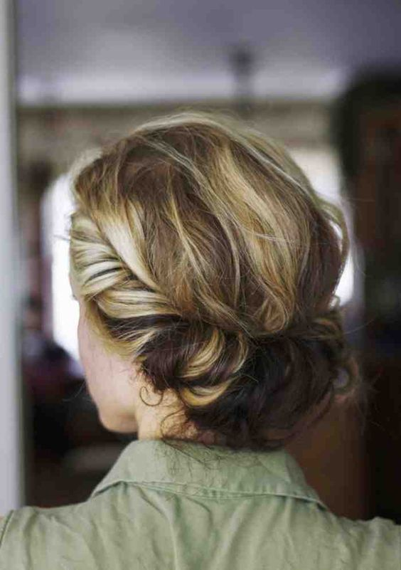 Boho Twis easy updos for short hair to do yourself 4