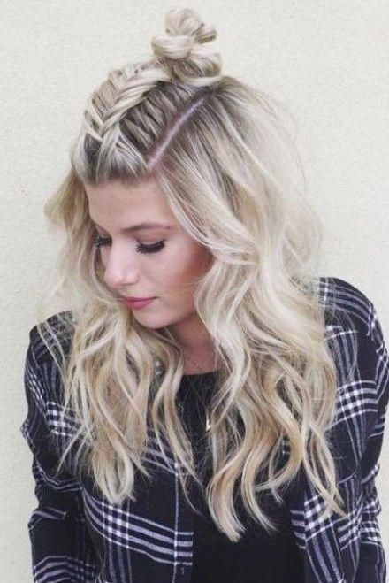 Braided Hair with Top Knot Most Inspiring Braids Hairstyle for Women 6