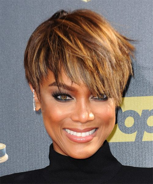 20 Charming Short Brown Hairstyles for Women Over 60 (Updated 2021) Brown-angled-pixie-hairstyles-with-highlights