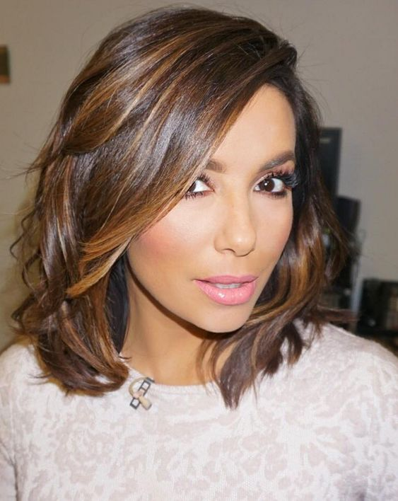 20 Charming Short Brown Hairstyles for Women Over 60 (Updated 2021) Brown-haircuts-with-caramel-highlights