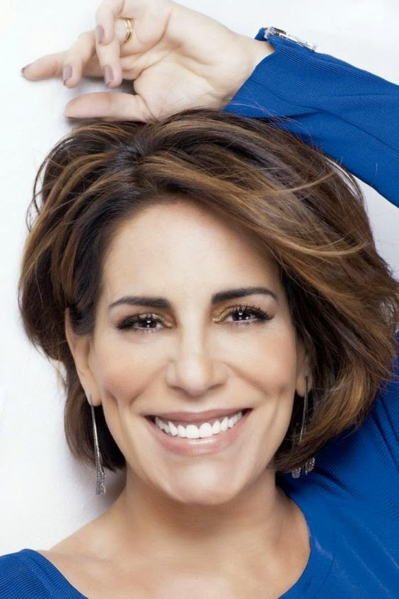 20 Charming Short Brown Hairstyles for Women Over 60 (Updated 2021) Brown-wavy-wedge-with-highlights