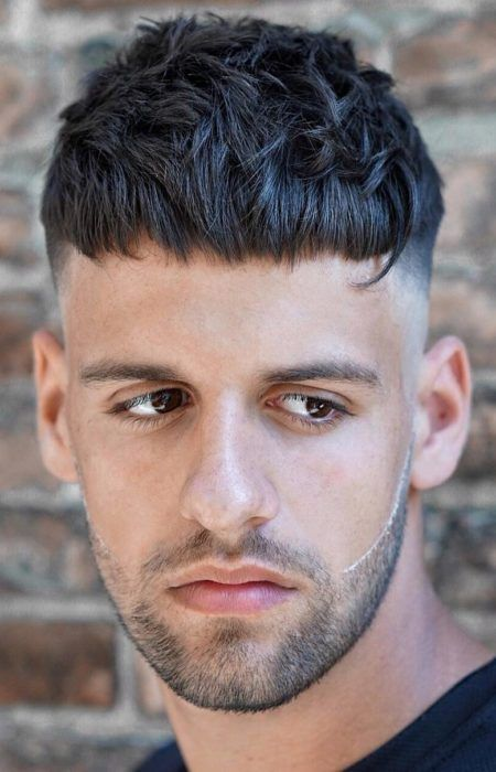 Caesar Cut haircuts for men with thick hair 5