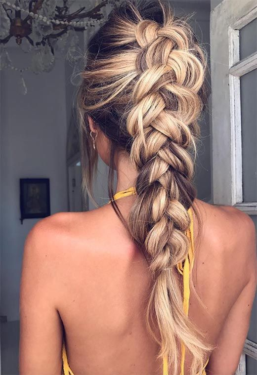 79 Most Inspiring Braids Hairstyle for Women Chunky-Plait-Braids-Most-Inspiring-Braids-Hairstyle-for-Women-1