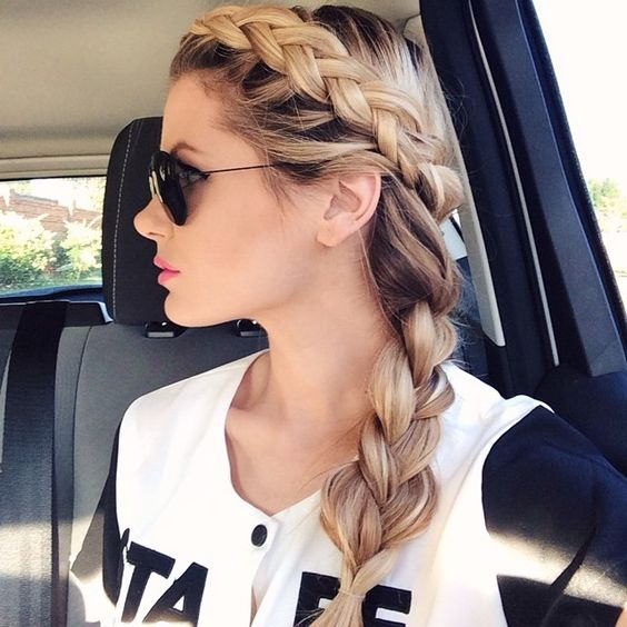 Chunky Plait Braids Most Inspiring Braids Hairstyle for Women 5