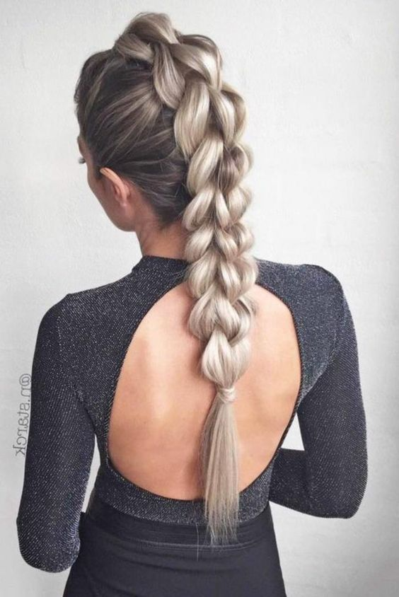 Chunky Plait Braids Most Inspiring Braids Hairstyle for Women 6