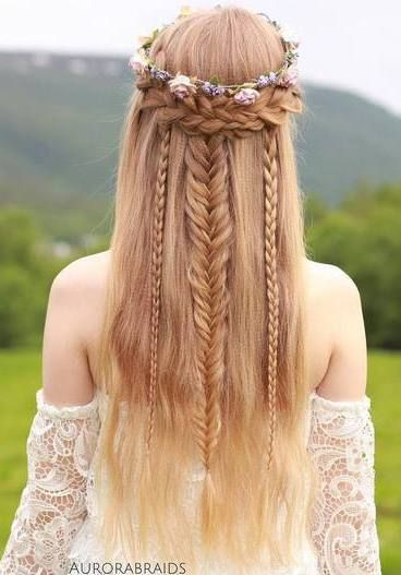 Crown Braid Easy Updos for Short Hair to do Yourself 4