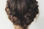Crown Braid Easy Updos For Short Hair To Do Yourself 7