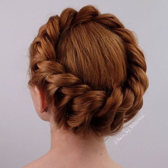 Crown Braid easy updos for short hair to do yourself 3