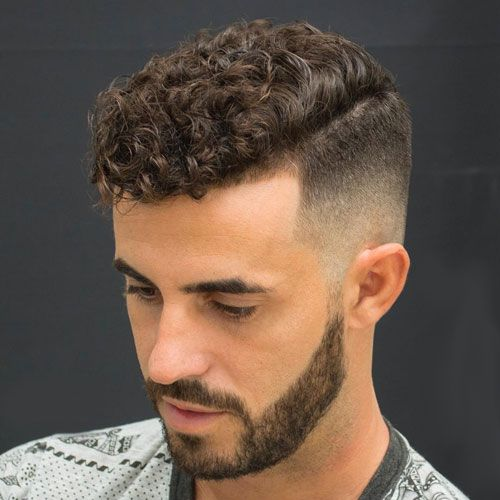 Short & Medium Length Curly Hairstyles for Men Curly-Hairstyle-with-Fade-curly-hairstyles-for-men-1