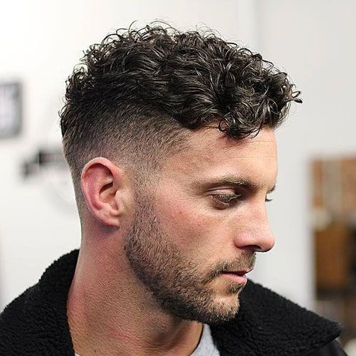 Short & Medium Length Curly Hairstyles for Men Curly-with-Undercut-with-Fade-curly-hairstyles-for-men-2
