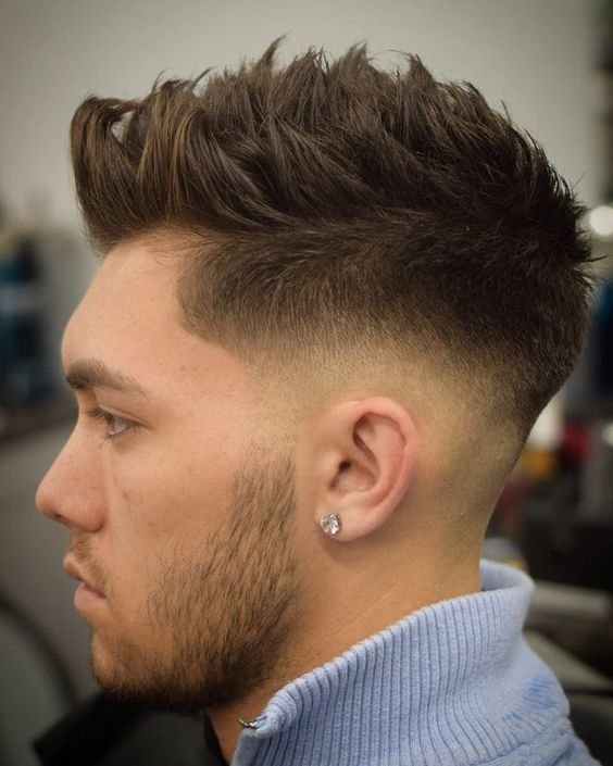Faux Hawk haircuts for men with thick hair 4