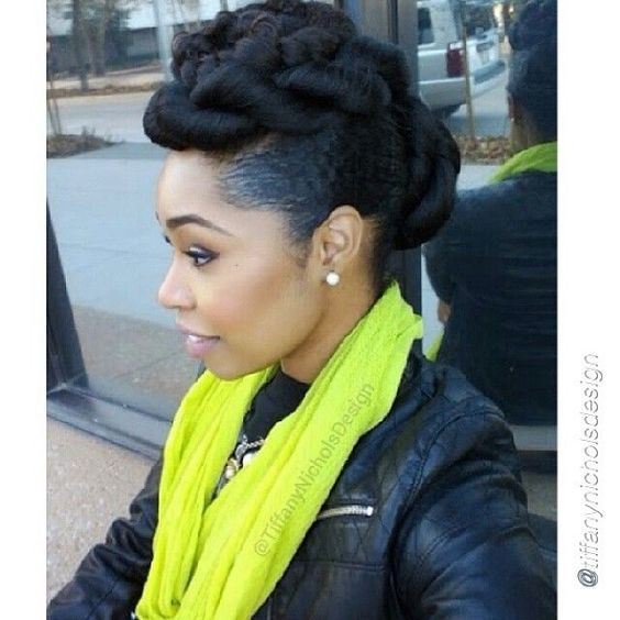 Faux Up-Do Hairstyle Easy Updos for Short Hair to do Yourself 2