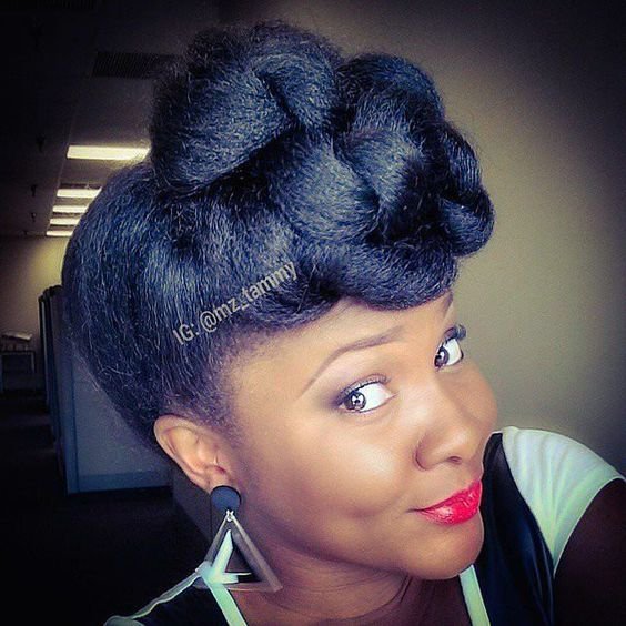 Faux Up-Do Hairstyle Easy Updos for Short Hair to do Yourself 4