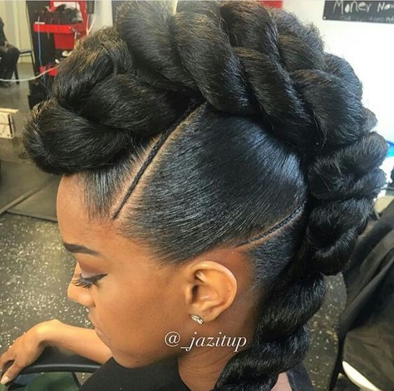 Faux Up-Do Hairstyle Easy Updos for Short Hair to do Yourself 5