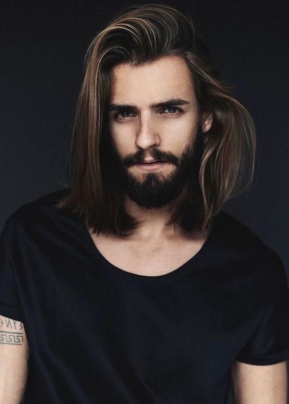 Half-up Hairstyle long hairstyles for men with thick hair 3
