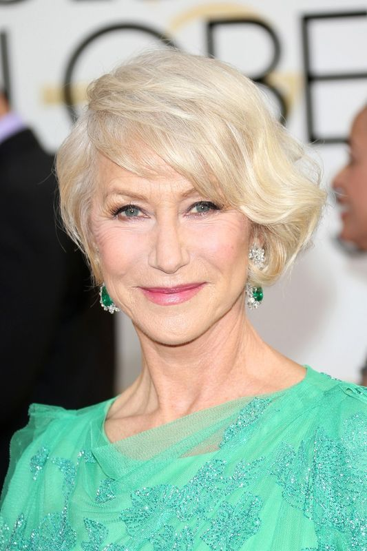 Hellen Mirren and Ellen Burstyn's Hairstyles for Seniors with Thin Hair That Give Youthful Look 2