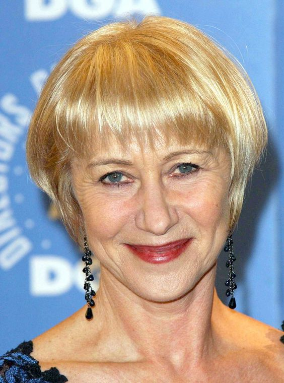 Hellen Mirren and Ellen Burstyn's Hairstyles for Seniors with Thin Hair That Give Youthful Look 3