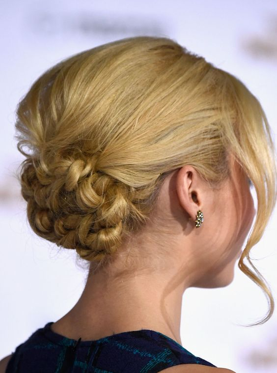 Knotted Chignon Most Inspiring Braids Hairstyle for Women 2