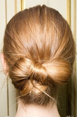 Knotted Chignon Most Inspiring Braids Hairstyle for Women 3