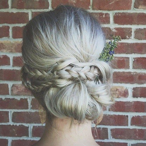 Knotted Chignon Most Inspiring Braids Hairstyle for Women 5