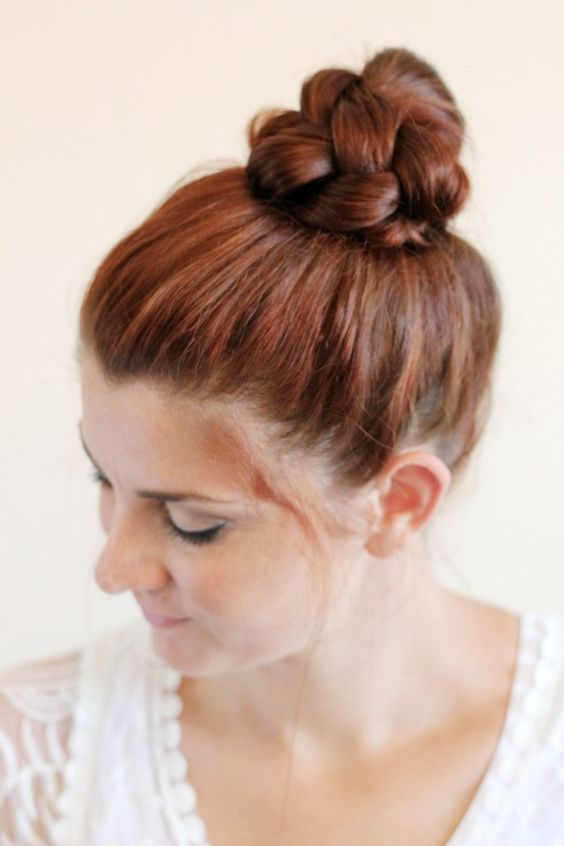 Knotted Chignon Most Inspiring Braids Hairstyle for Women 6