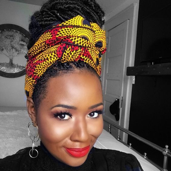 Knotted Head Scarf Most Inspiring Braids Hairstyle for Women 5