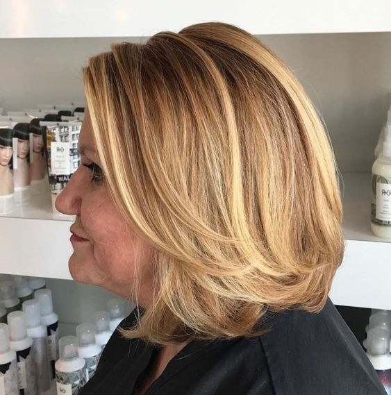 Layered Graduated Bob for Seniors with Thin Hair That Give Youthful Look 3