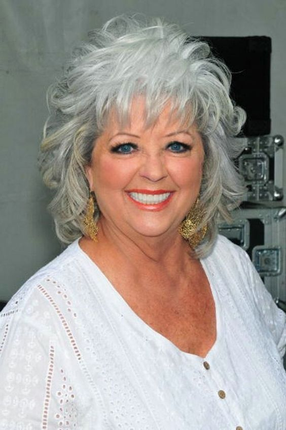 Liberated Grey Hair Shag for Seniors with Thin Hair That Give Youthful Look 4