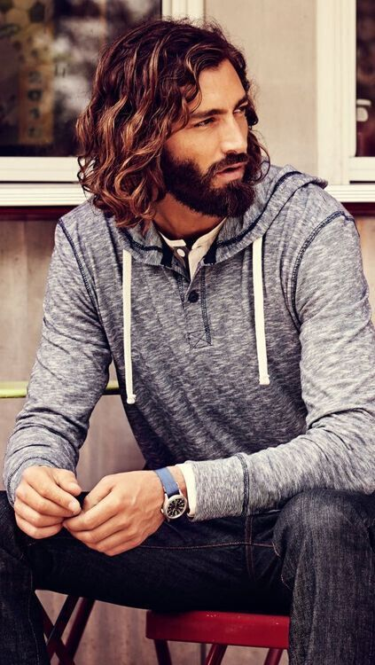 Long Hairstyle with Full Beards hairstyles for older men with beards 8