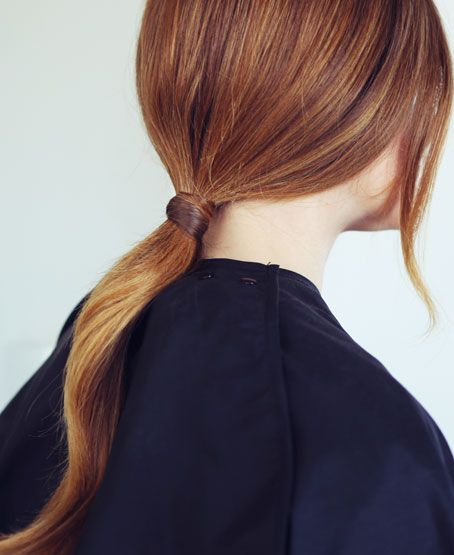 Loose Low Ponytail With Casual Side Bangs Asian Women Hairstyles 6