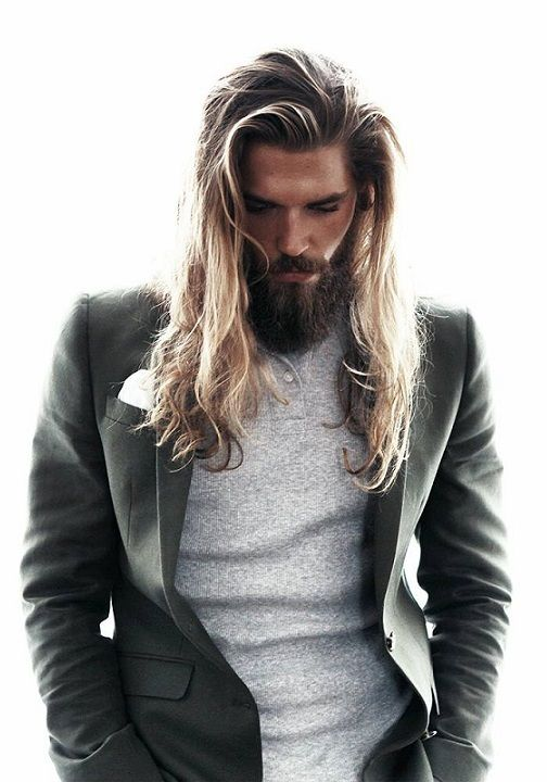 Loose Waves long hairstyles for men with thick hair 1