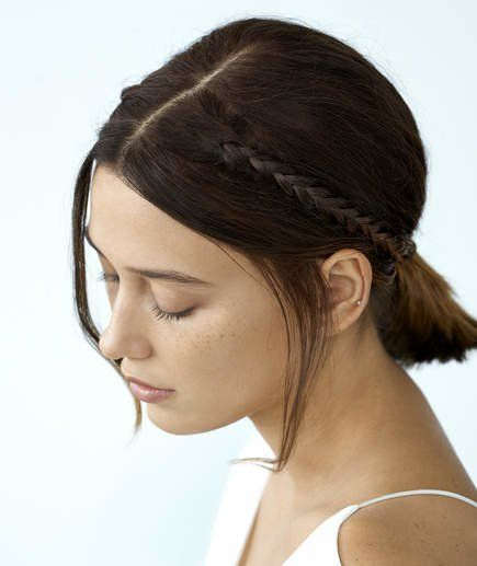 Low Ponytails easy updos for short hair to do yourself 5