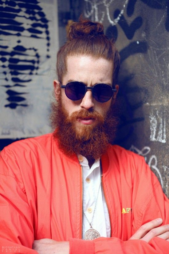 Man Bun with Full Beards hairstyles for older men with beards 1