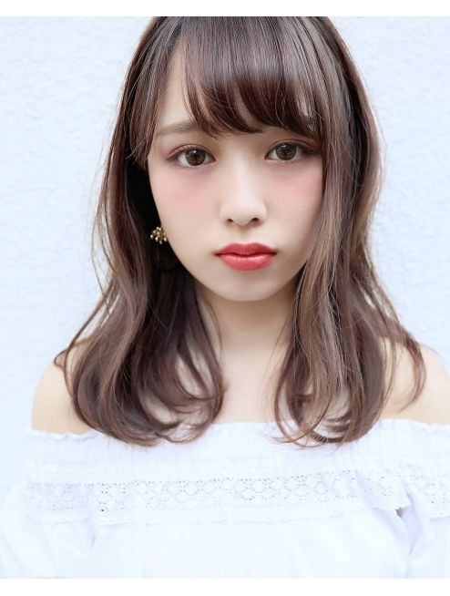 Medium Length With Bangs Asian hairstyles for women 4