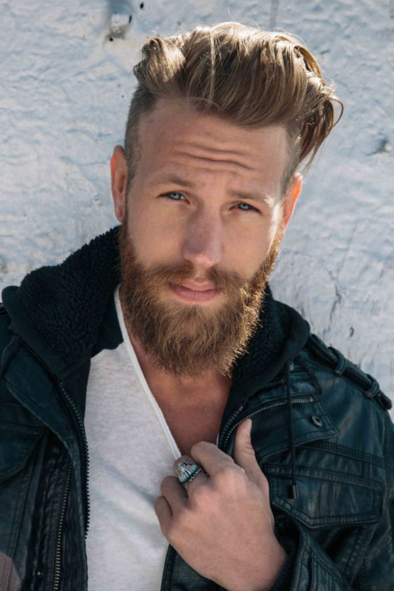 Medium Length with Beards hairstyles for older men with beards 3