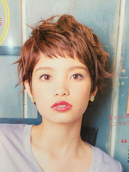 Messy Pixie Asian hairstyles for women 6